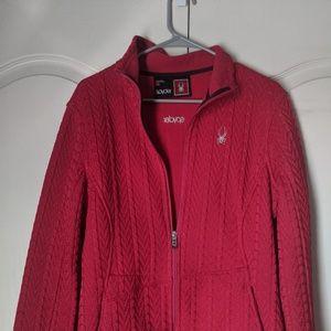 Spyder Cable Knit Jacket  Pink